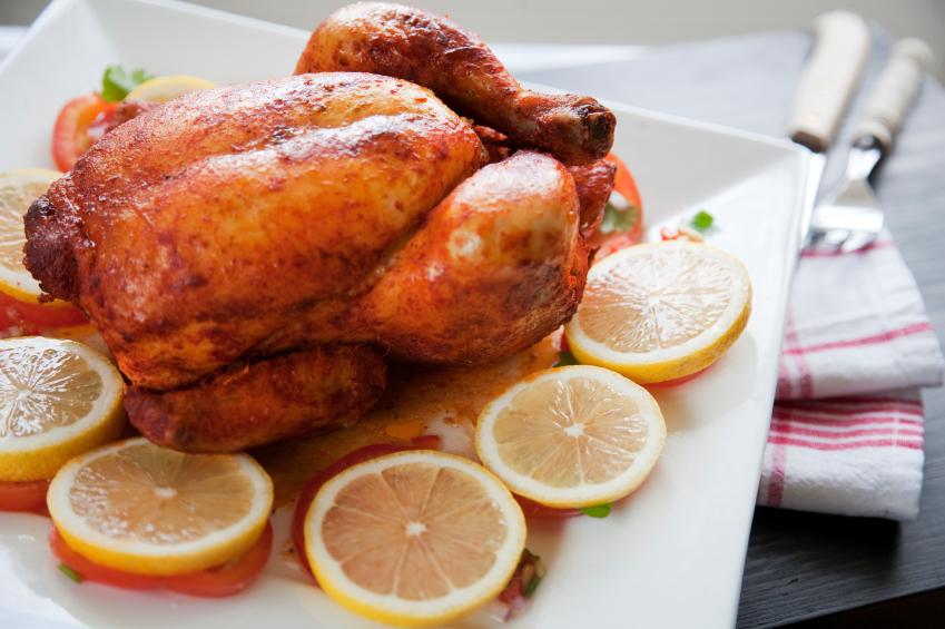 Roasted Chicken, lemons