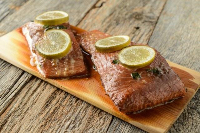 Salmon, lemon, thyme