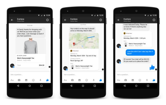 Facebook Businesses on Messenger