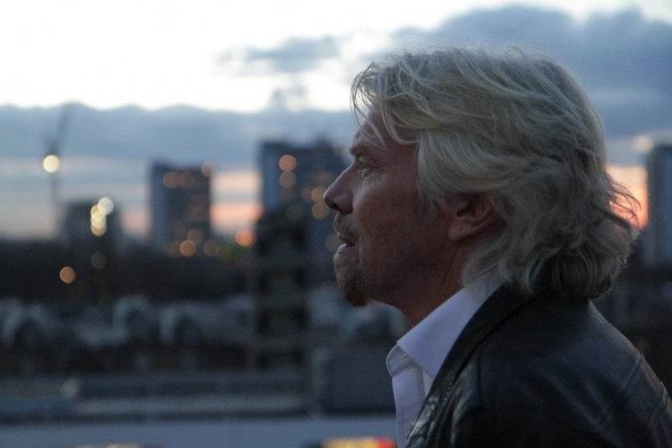 Richard Branson thinking about his next big idea