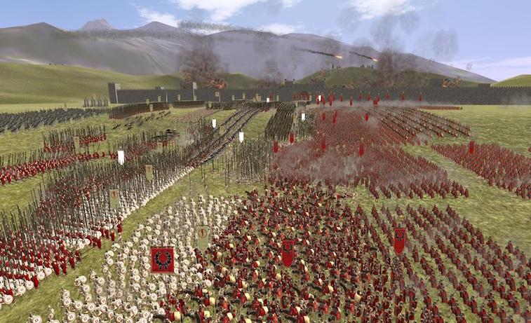 Online Roman Games