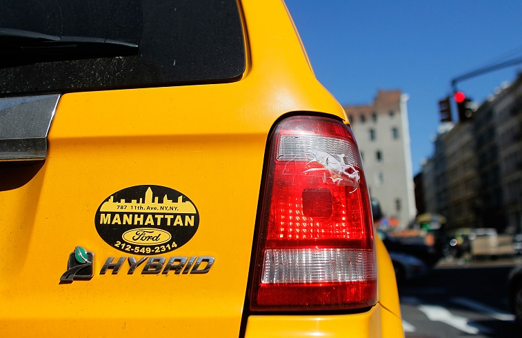 NYC hybrid taxi