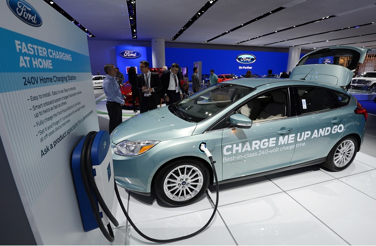 Ford electric vehicle charging demonstration