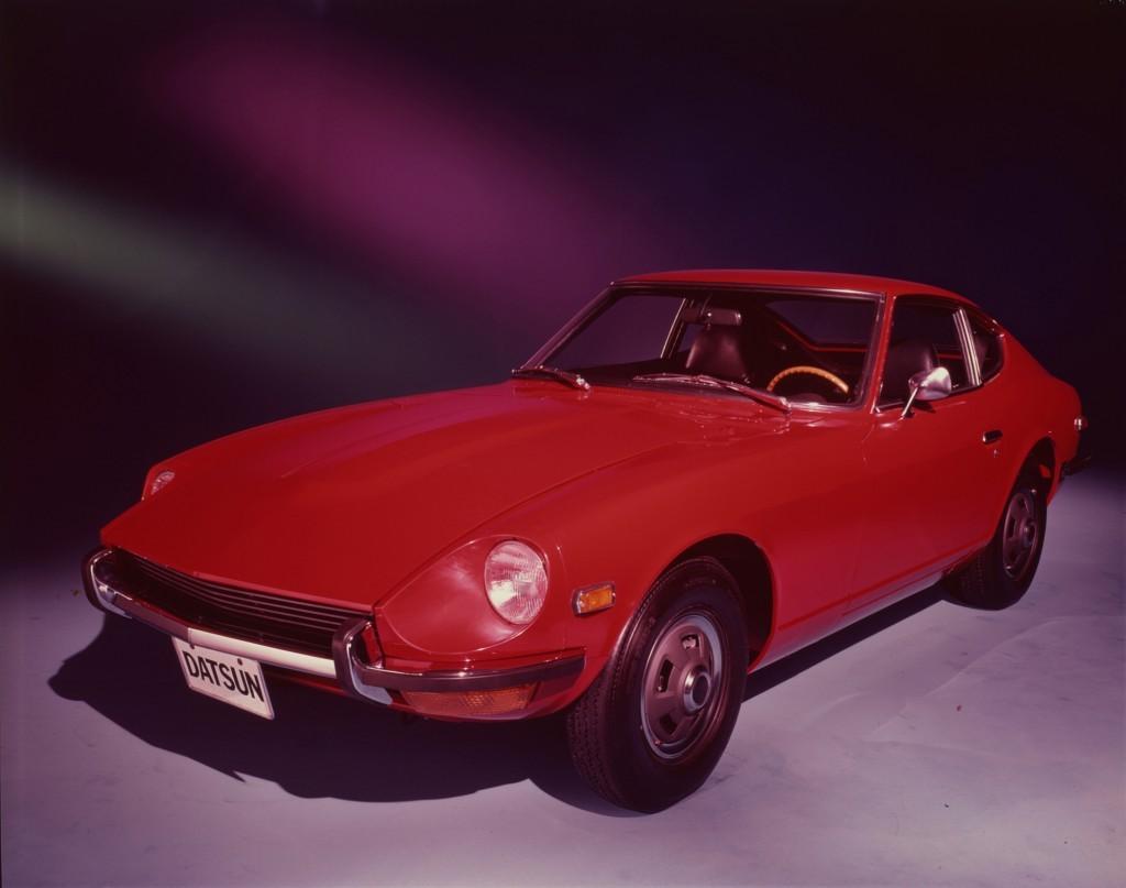 A red 1970 Datsun 240Z.