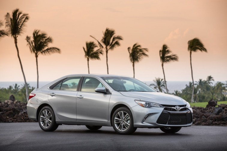 2015 Camry with a California backdrop