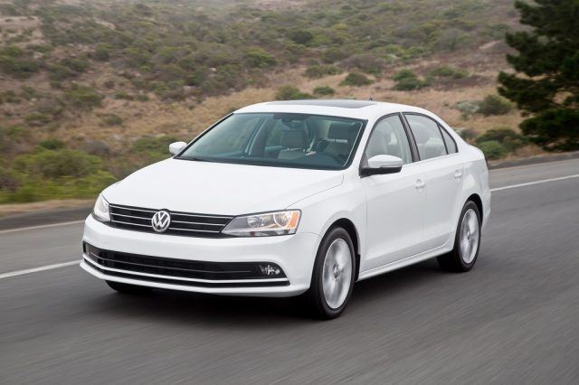 A 2016 Volkswagen Jetta makes the cut thanks to its surprisingly strong engine