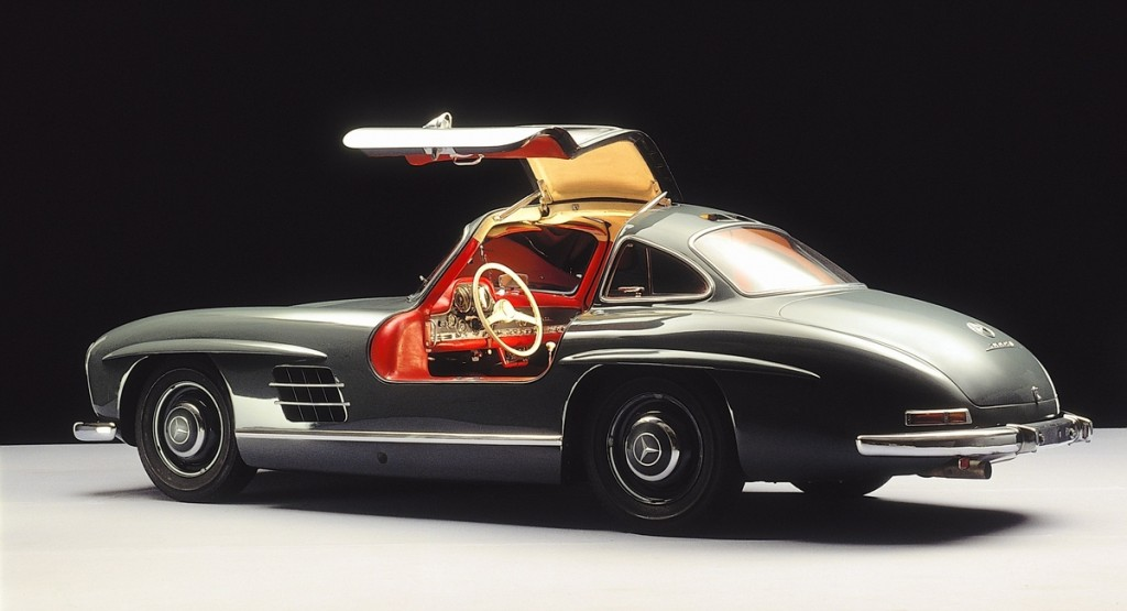 Mercedes Sports Car With Wing Doors