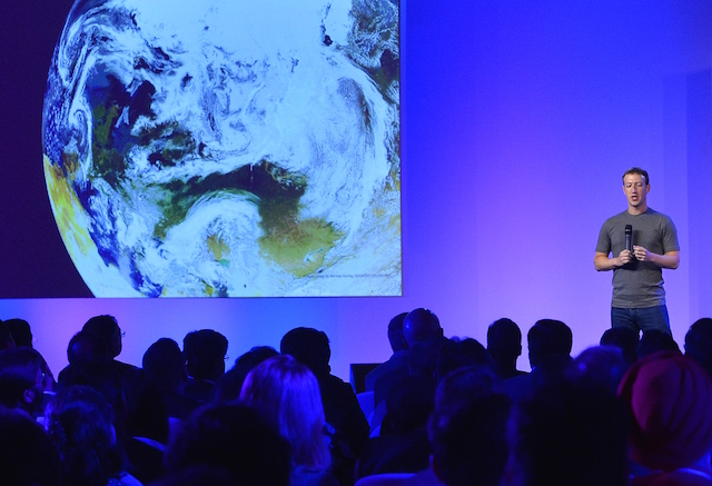Facebook founder Mark Zuckerberg speaks at a press conference