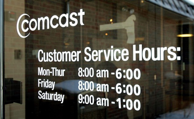 Comcast customer service hours on a window
