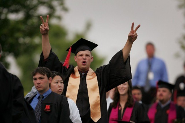 Students from Virginia Tech's College of Engineering attend their graduation ceremony - Source: Scott Olson/Getty Images