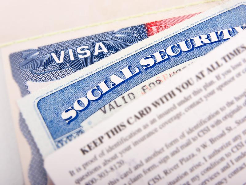visa and social security card
