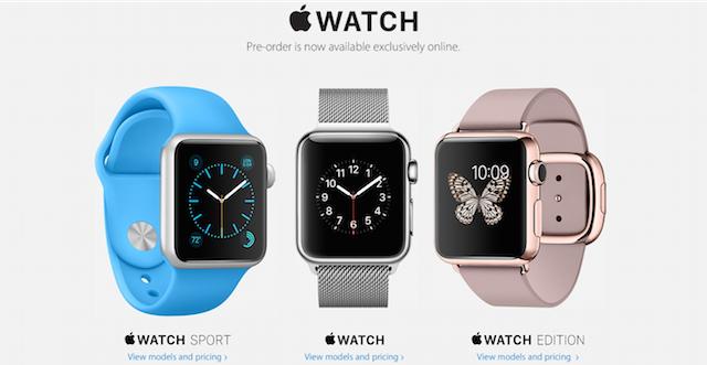 Apple Watch preorders