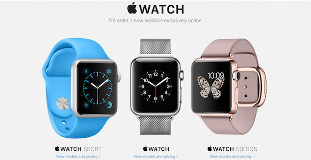 Apple Watch preorders