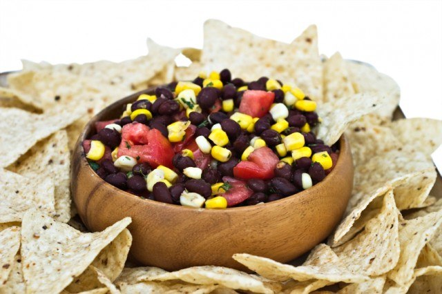 corn and bean salsa