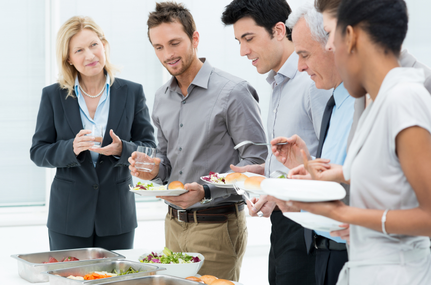 Employees invite the boss along for lunch