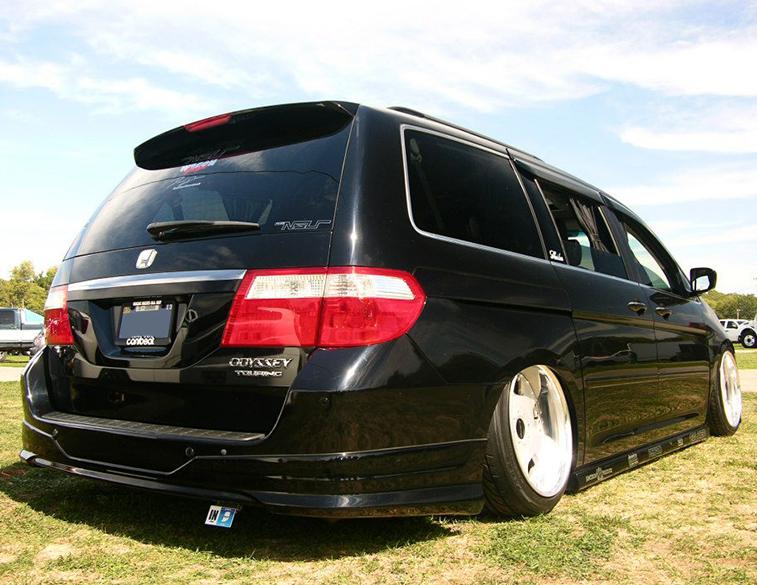 Slammed Honda Odyssey minivan