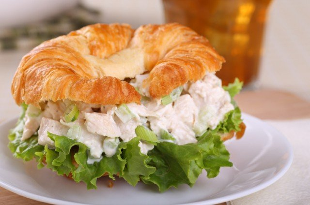 Here's a twist on a classic chicken salad sandwich