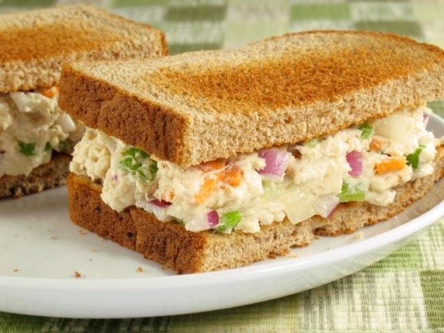 chicken salad, sandwich