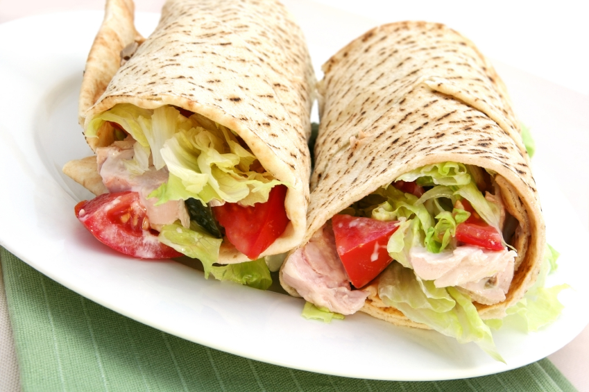 Image result for whole grain turkey wrap