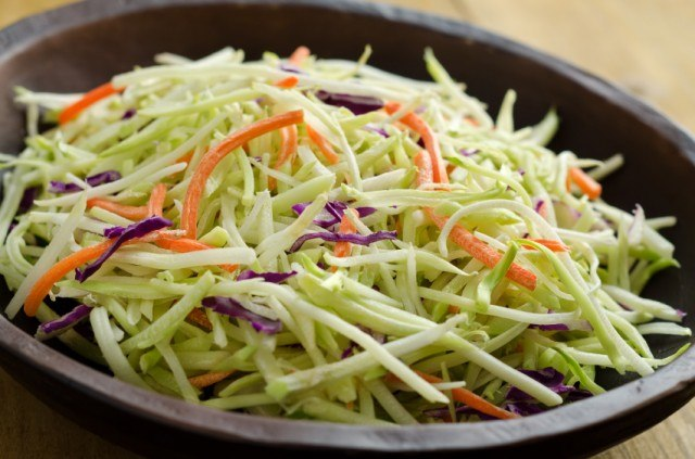 broccoli slaw is one of the most popular potluck recipes