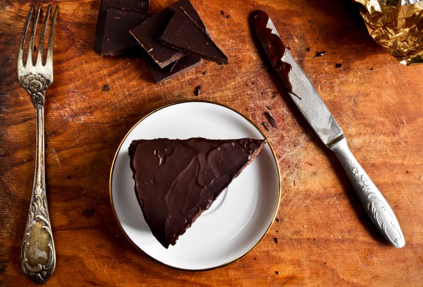 slice of chocolate pie