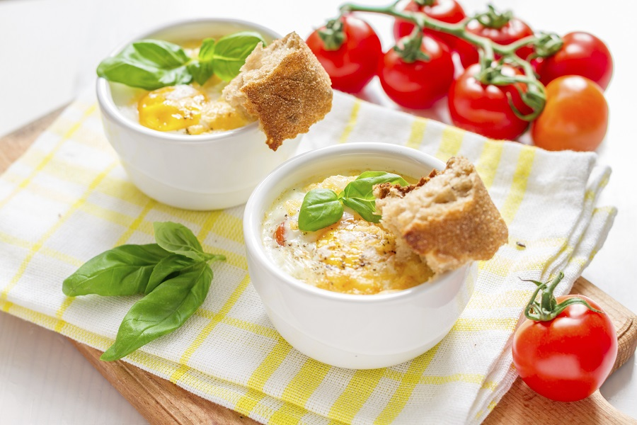 Baked eggs in a ramekin