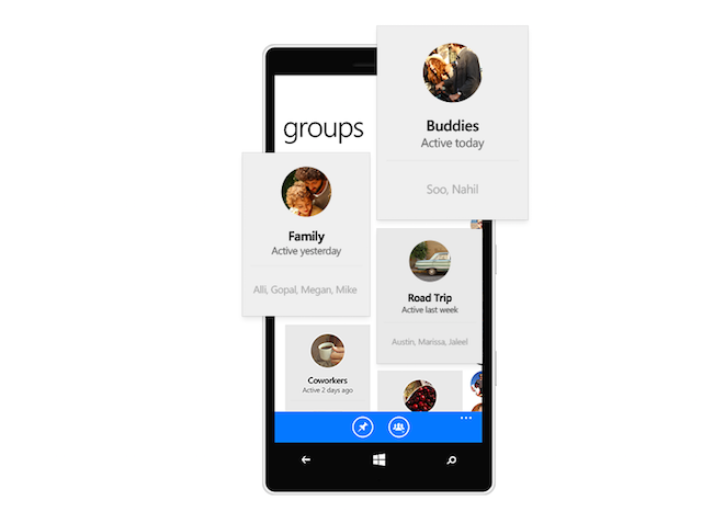 Facebook Messenger app group conversations