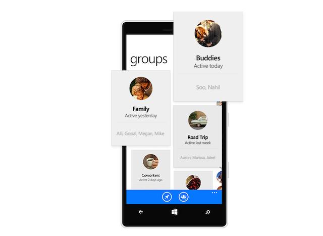 Facebook Messenger app group conversations
