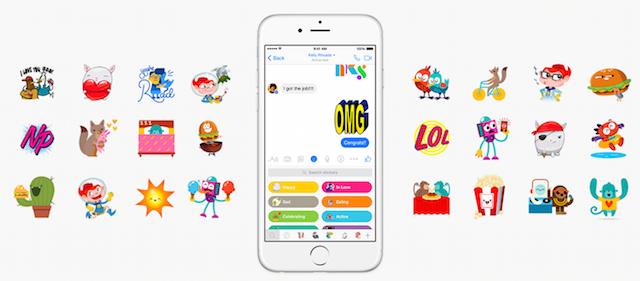 Facebook Messenger stickers