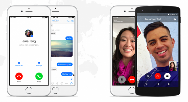 Facebook Messenger voice calls and video calls