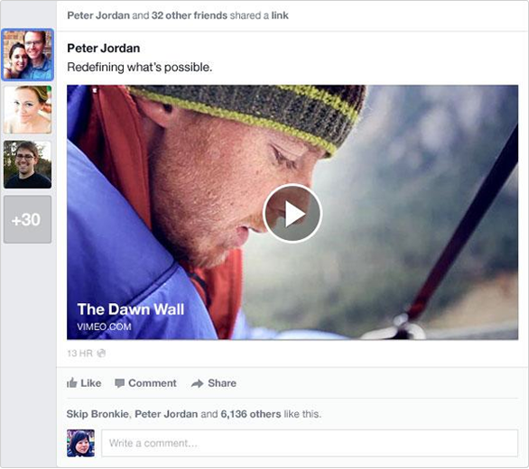 Facebook News Feed video