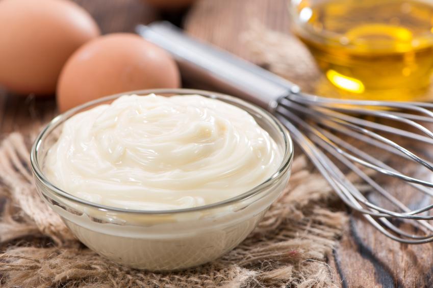 bowl of mayonnaise