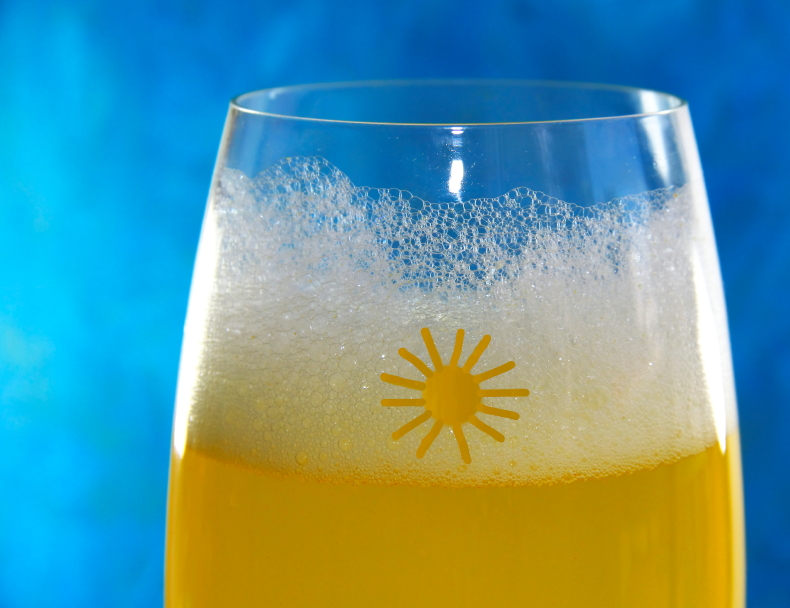 passion fruit juice, mimosa