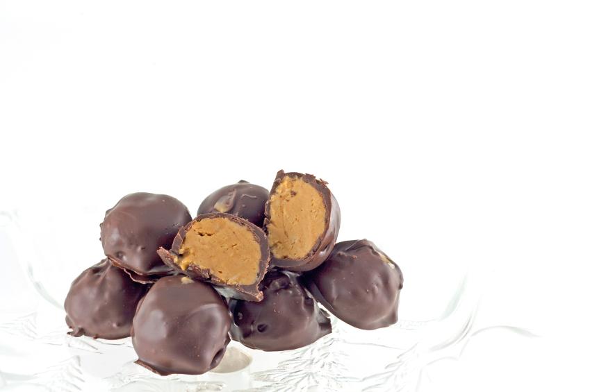 peanut butter balls, chocolate