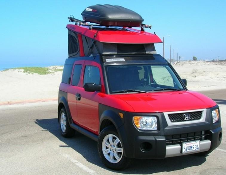 Honda Element with pop-up camper