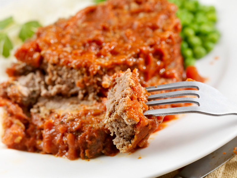 Meatloaf, Tomato Sauce