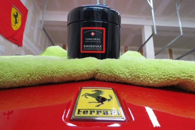 Ferrari logo with Swissvax