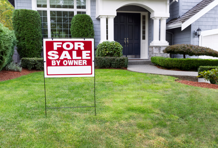 for sale sign in yard
