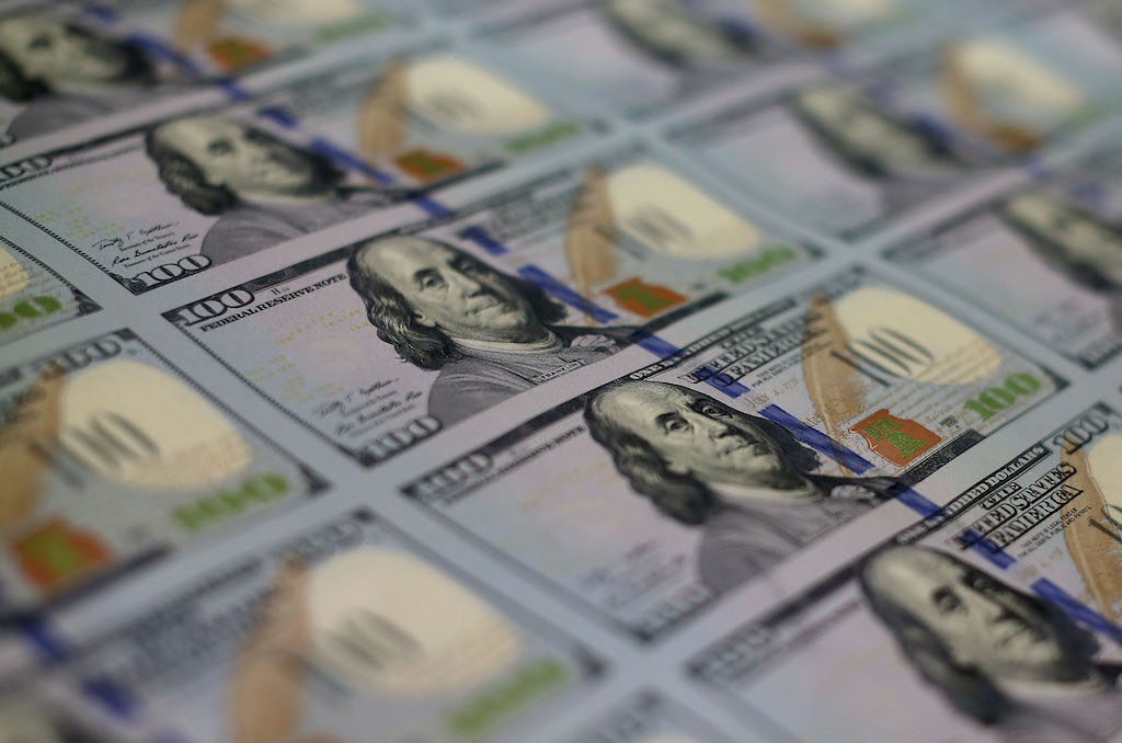 Newly redesigned $100 notes