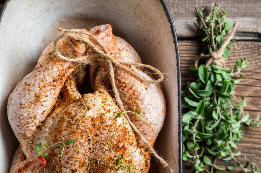chicken in pot