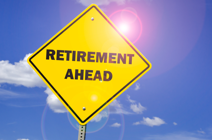 retirement ahead road sign