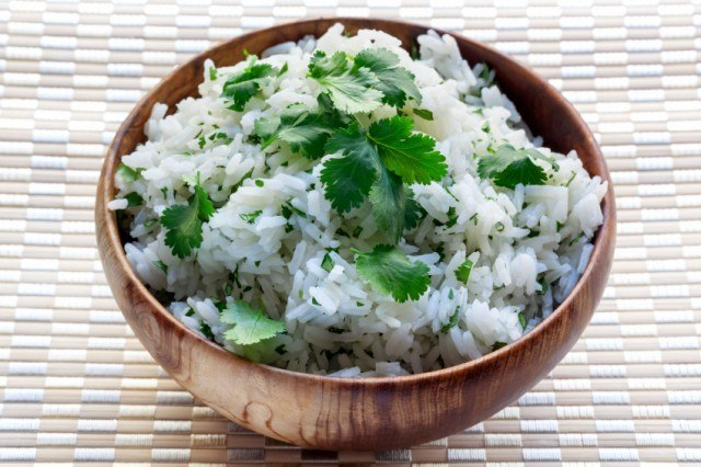 rice with cilantro