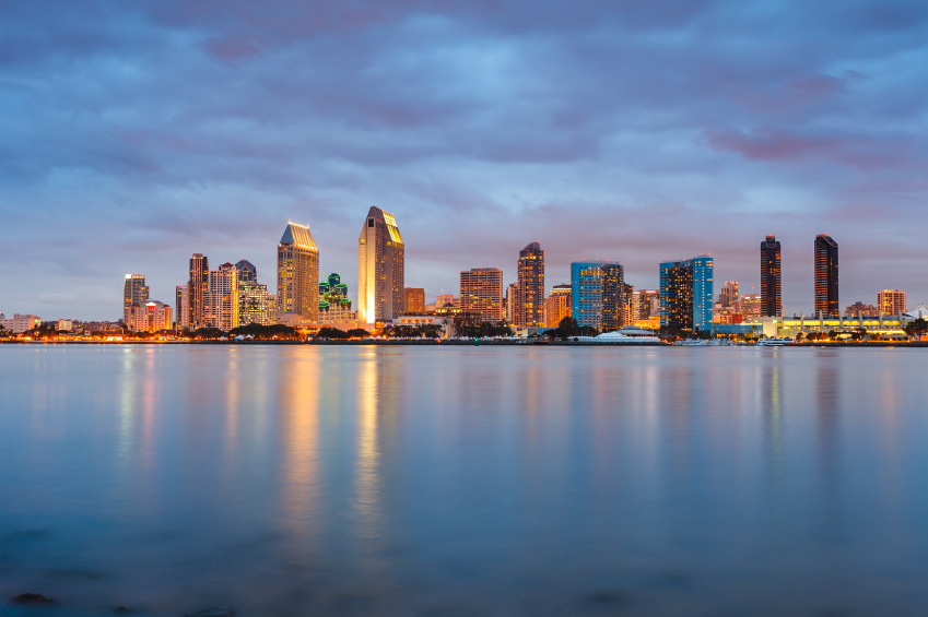 Nighttime in San Diego