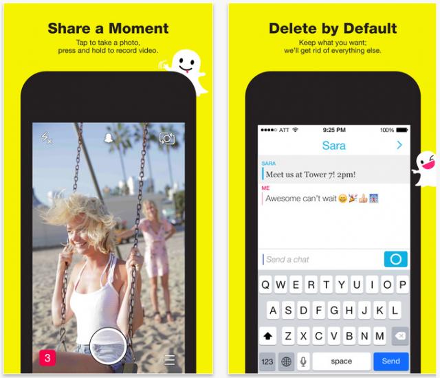 Snapchat iOS app