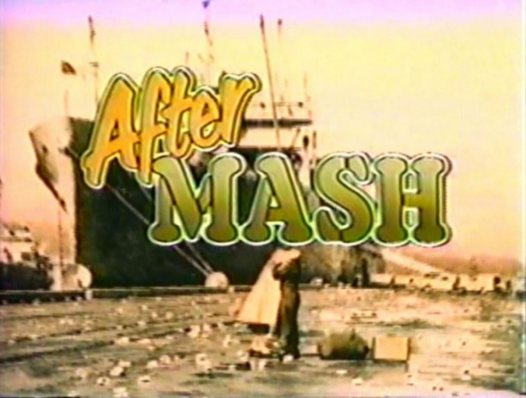 A boat on water in the AfterMASH logo
