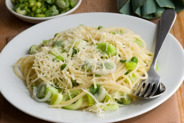 pasta with peas and cheese