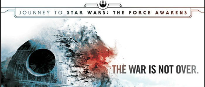 An exploding Death Star on the cover art for Aftermath: Journey to The Force Awakens