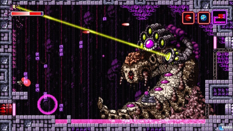 A metroidvania with big bosses.
