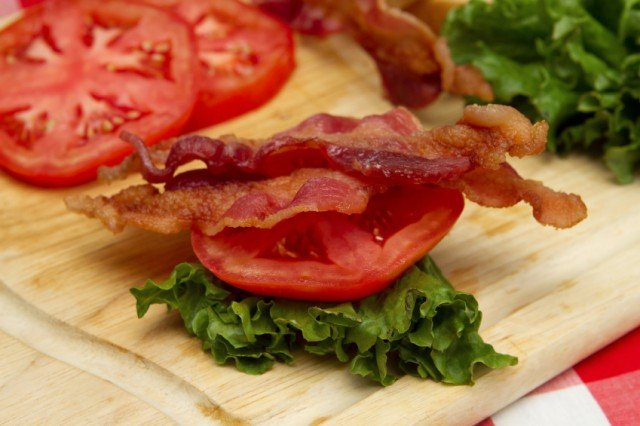 bacon, lettuce, and tomato
