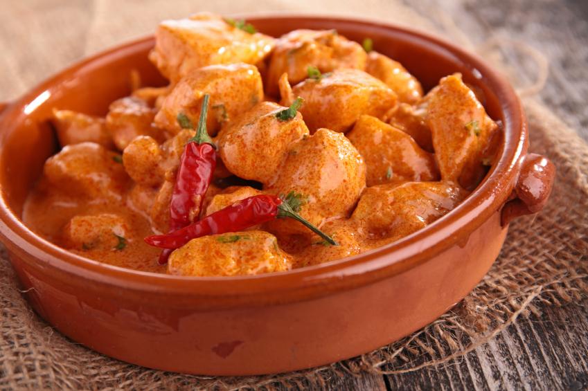 Chicken, curry